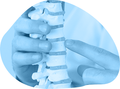chiropractor showing spine icon